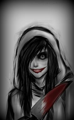 Image via We Heart It https://weheartit.com/entry/140725880 #blood #murder #serialkiller #creepypasta #jeffthekiller