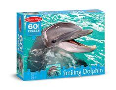 Smiling Dolphin Cardboard Jigsaw - 60 Pcs