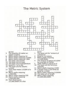 Crossword puzzle of the Integumentary System