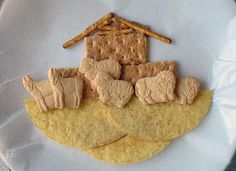 This cute and tasty Noah's Ark craft is completely edible. A great project for Sunday school, VBS, or everyday fun.
