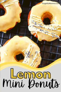 Lemon mini donuts are the perfect citrus twist on a fun snack. Quick and easy to make with a #minidonutmaker #donuts #minidonuts #lemondonuts Easy To Make Snacks, Quick Snacks, Mini Donut Maker Recipes, Snack Recipes, Dessert Recipes, Mini Donuts, Lemon Desserts, Kid Friendly Meals, Foodies