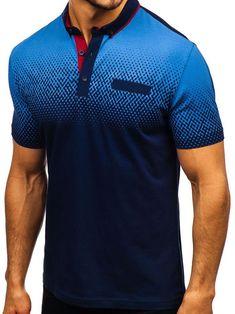 Mens Gradient Tone Shirt Collar T-Shirts Short Sleeve Golf Shirts – widezee Polo Shirt Brands, Polo T Shirts, Golf Shirts, Sports Shirts, Camisa Polo, Sport Shirt Design, Casual T Shirts, Casual Wear, Casual Outfits