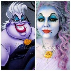Ursula from The Little Mermaid Halloween makeup