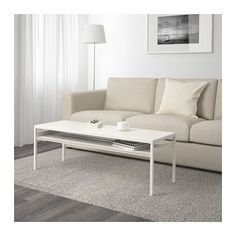 NYBODA Coffee table w reversible table top, white/gray white/gray 47 1/4x15 3/4x15 3/4