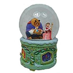 Original Disney snow globe with light and music, the Beauty and the Beast