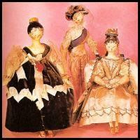 Queen Victoria's Dolls - Illustration by Alan Wright - young Princess Victoria collected and named over 130 dolls. She and and her governess, Baroness Louise Lehzen dressed and named the 130 dolls often based on people from the young princesses life, or from the theatre or ballets she attended with her governess.