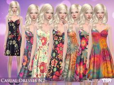 Casual Dresses N2 by Aveira at TSR via Sims 4 Updates