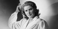 Ingrid Bergman was one of the greatest actresses of Hollywood's lamented Golden Era. Ingrid Bergman, a Swedish actress, was born in Stockholm. Old Hollywood Actors, Hollywood Cinema, Hollywood Stars, Roberto Rossellini, Isabella Rossellini, Ingrid Bergman, Swedish Actresses, Dramatic Arts, Movie Facts