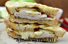 Горячий сэндвич с индейкой и сыром бри (панини)
