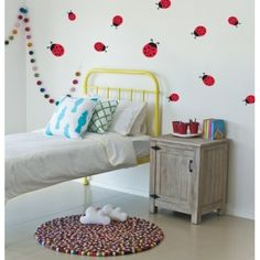 We LOVE the new Lady Beetles Wall Decal by Speckled House! #beetles #colour #red #love #stylish #walls #decals #stickers #kidsroom #playroom #babyroom #nursery #babyshower #babygift #babyshop #create #crafts #designerbaby #designerkids #interiors #decor #kidsdecor #instashop #etsy #baby #kids #toddler #pregnancy #littlebooteekau