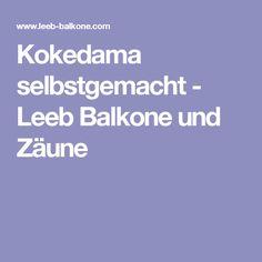 Kokedama selbstgemacht - Leeb Balkone und Zäune