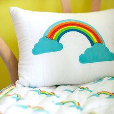 Rainbow Printed Cushion
