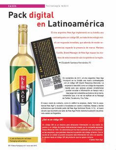 Entrevista de implementación del QR Code en el packaging de New Age realizada para la revista Enfasis Logística Online - by Mariano Cunille - Página 1