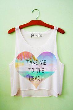 Take Me To The Beach Crop Tank Top