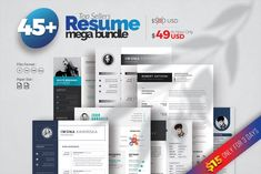 MS Word Resume Bundle by WhiteGraphic on @creativemarket Cover Letter For Resume, Cover Letter Template, Letter Templates, Modern Resume Template, Creative Resume Templates, Unique Resume, Job Resume, Student Resume, Infographic Resume
