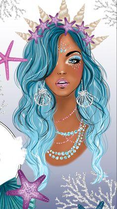 She DEFFO looks like me! Unicorns And Mermaids, Mermaids And Mermen, Mermaid Wallpapers, Cute Wallpapers, Arte Black, Mermaid Fairy, Mermaid Pictures, Unicorn Art, Tatoo Art