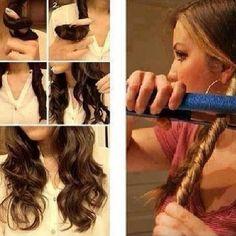 Jeito diferente de cachear os cabelos!