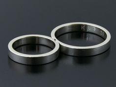 Rings by Bielak    white satin gold    www.ringsbybielak.com