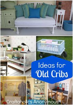 Reuses and Ideas for Old Cribs. You won't believe all the stuff you can do with an old crib!