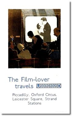 The Film Lover travels Underground - Piccadilly  Oxford Circus  Leicester Square  Strand Stations