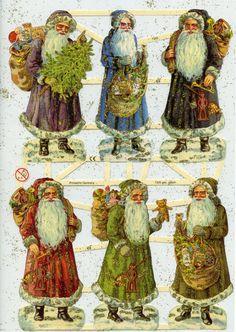 Santa SCRAP RELIEFS - GOLD Glittered Scrap Reliefs - Die Cut Santa - Vintage Christmas - Vintage Paper Santa - Vintage Santa Claus by OneDayLongAgo on Etsy