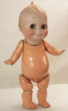 Antique Rose O'Neill Kewpie with Kestner Bisque Head and Composition Body 13 Pretty Dolls, Beautiful Dolls, Kitsch, Rare Roses, Little Cherubs, Antique Roses, Little My, Collector Dolls, Old Toys