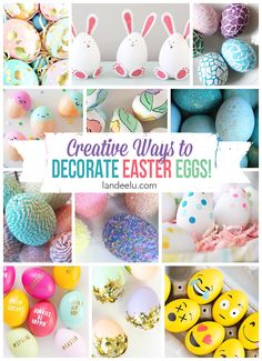 So many beautiful Easter egg designs! No need to be limited by what you can do with a dye kit from the grocery store. Make works of art!