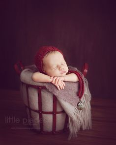 Babies in Baskets. Newborn Photography and Posing. Learn from Kelly Brown, expert photographer in posing newborns, triples and multiples.