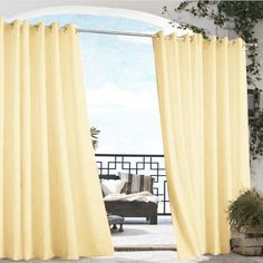 Absolutely perfect for that privacy you need, and adds style to your outdoor living space. The outdoor Curtain Panels are created to hold up to sun, wind, rain and heat beautifully. Extra-thick 100% Polyester fabric is fade-resistant and water-repellent. They are the alluring frame on your very own window into the uncommon joys of luxurious outdoor living!