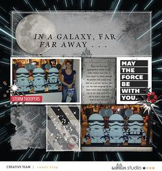 Disney Star Wars In a Galaxy Far Far Away digital scrapbook layout using Project Mouse (Galaxy): by Sahlin Studio