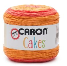 NEW Caron Cakes Spice Cake Yarn - one of 8 new colorways for 2017 plus free patterns featuring the original Caron Cakes colors as well as these new ones Caron Cake Crochet Patterns, Caron Cakes Crochet, Crochet Cake, Crochet Stitches, Knitting Patterns, Crochet Basics, Loom Knitting, Knitting Needles, Quick Crochet