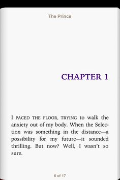 Chapter one of The Prince