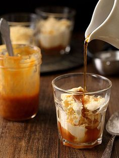 11 Iced Coffees to Kick Your Caffeine Buzz Up a Notch | SALTED CARAMEL AFFOGATOS | The contrast between the cold vanilla ice cream and the hot coffee mixed with the salty-sweet caramel will confuse your senses in the most delightful of ways. Get the recipe HERE.
