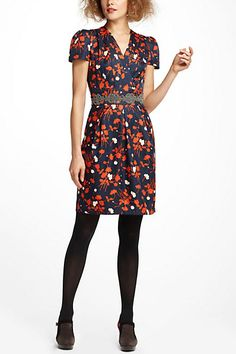 Flowers and AU colors. What's not to love?  Tossed Bouquet Dress #anthropologie