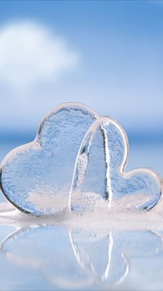 Hearts of ice Not cold hearted 😉 Flower Phone Wallpaper, Heart Wallpaper, Love Wallpaper, Nature Wallpaper, Wallpaper Backgrounds, Iphone Wallpaper, Love Heart Images, Heart Pictures, I Love Heart