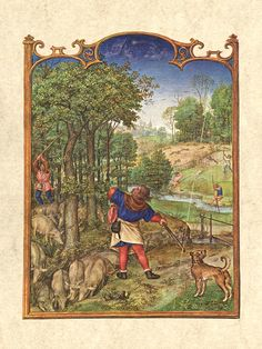 The Month of November from the Grimani Breviary by an unknown Flemish Miniaturist (active 1490-1510 in Flanders)