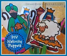FREE DIY Nativity Puppets
