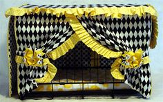 Dog Crate Cover - Ruffles and Bows Crate Cover and Pad - Customized Crate Cover and Bed for your Pet Puppy Beds, Pet Beds, Dog Bed, Dog Crate Cover, Puppy Crate, Airline Pet Carrier, Dog Spaces, Cat Cages, Cute Chihuahua