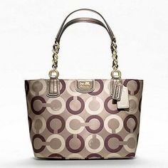 Coach Madison Op Art Multi Sateen Tote - Polyvore
