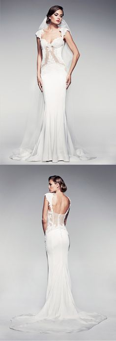 The Angelika dress by Pallas Couture. See what others think of the dress here. https://www.facebook.com/weddingchicks/posts/10152414002752672