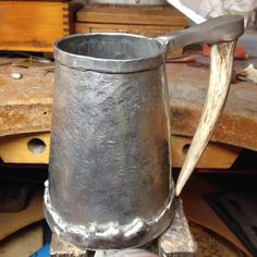 Making some #pewter mugs for the #phibeataheata #jewelrysale here at #UGA.