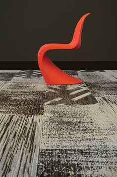 With the Grain carpet tile in nylon by Mannington Mills.