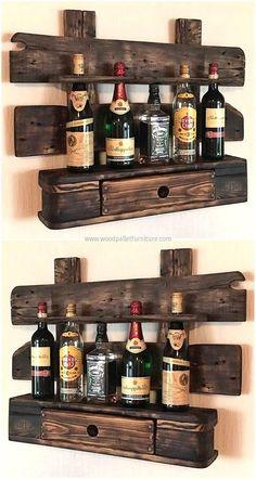 pallet vintage shelf idea
