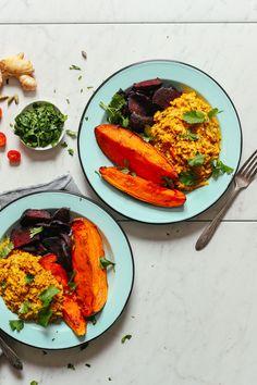 DELICIOUS, healing 1-Pot Cauliflower Rice Kitchari! Flavorful, comforting, SUPER soothing. #kitchari #vegan #glutenfree #plantbased #minimalistbaker-6