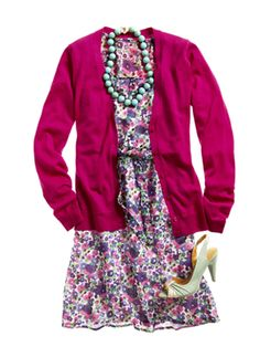 How to Wear Bright Colors - Spring Cardigan - Redbook