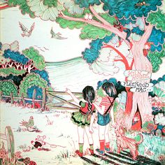 3232806587_d14898aa1a_o.jpg (1330×1330) fleetwood mac - kiln house album cover. weird creatures in nature, simple but detailed in marker
