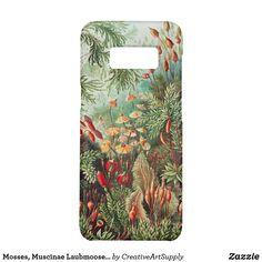 Muscinae Laubmoose by Ernst Haeckel Vintage Plants Phone Case Samsung Logo, Samsung S9, Samsung Galaxy S5, Galaxy S8, Natural Form Art, Ernst Haeckel, Flora Flowers, Fine Art Drawing, Cell Phone Cases