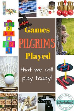 So fun! This is a list of game pilgrim children played that we still play today. The names the pilgrims called the games are included, too! Your students will be interested to know what pilgrim children did in their free time!