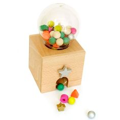 Gatcha Gatcha Wood Gumball Set, $58. Find this and more Gift Guides at SmallforBig.com #kids #toys #gifts