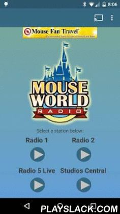 MouseWorld Radio  Android App - playslack.com ,  MouseWorld Radio brings you Disney music from your favorite theme parks. Introducing a brand new media player. Stations load much faster. Other media playback options are available in the app main screen menu.Sleep timer can be activated after you select a station to play.Long Press any of the play buttons for a preview before selecting a station.Android Wear support-stop playback, see song information and control volume from your Android Wear…